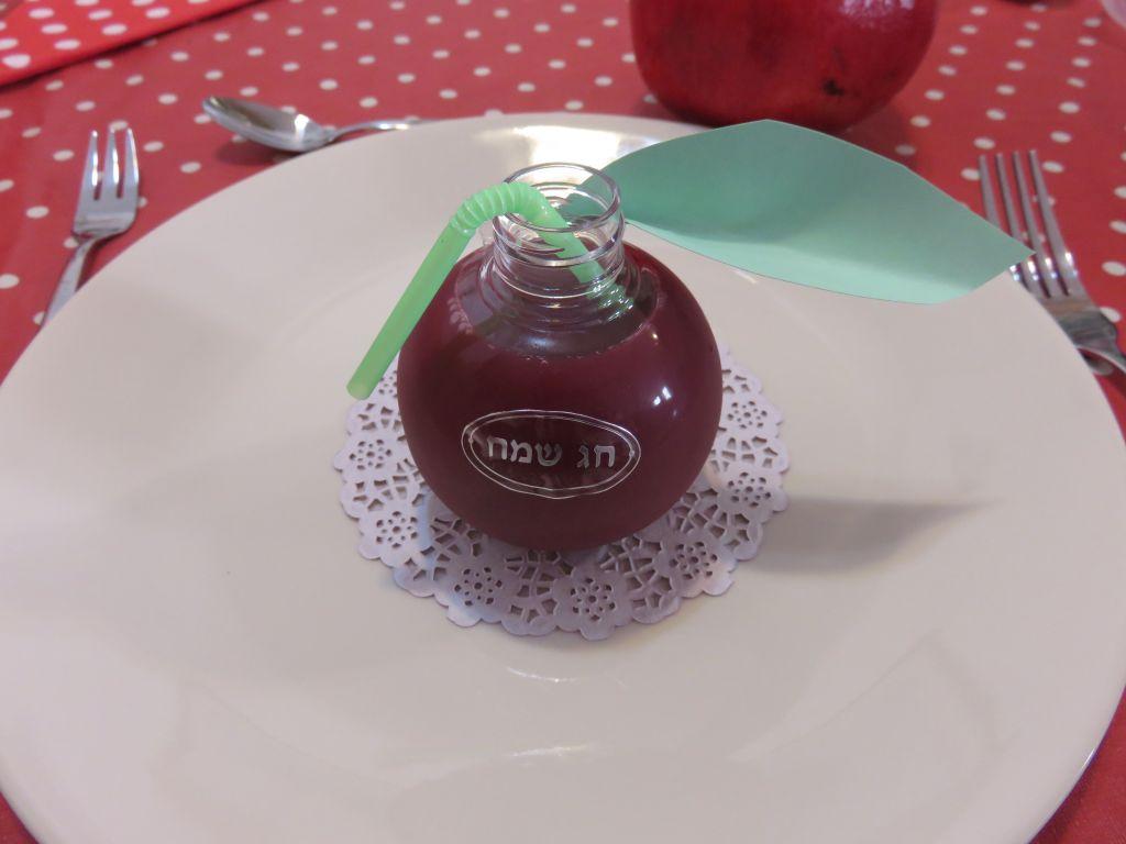 בקבוק בצורת תפוח לראש השנה