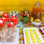 מסיבת אביב יום הולדת 10 שולחן מעוצב פרחוני