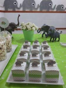 קופסאות פילים עם עוגיות פיל בפנים